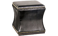 Hammary Furniture Hidden Treasures Black Storage Cube Ottoman