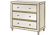 Hammary Furniture Hidden Treasures Mirrored 3-Drawer Chest
