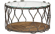 Hammary Furniture Hidden Treasures Round Hourglass Coffee Table