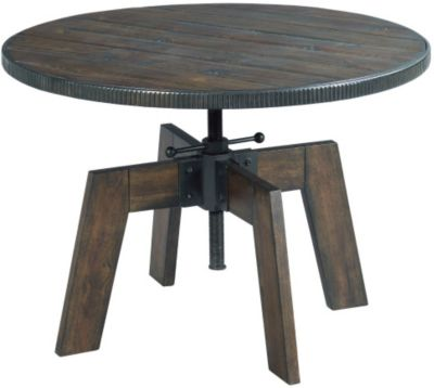 Low Round Wood Coffee Table.Hammary Furniture Hidden Treasures High Low Round Coffee Table