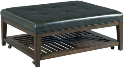 Hammary Furniture Hidden Treasures Bonded Leather Coffee Ottoman