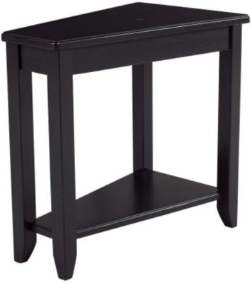 Hammary Furniture Black Wedge Chairside Table
