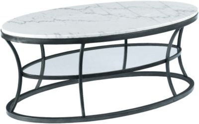 Oval Coffee Table With Shelf.Hammary Furniture Impact Oval Coffee Table