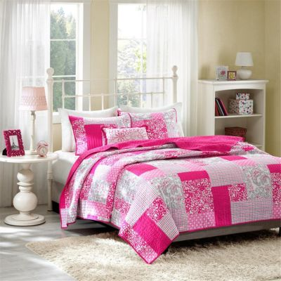 Hampton Hill Abbey 4-Piece Full Coverlet Set
