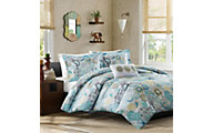 Hampton Hill Tamil Blue 3-Piece Twin Comforter Set