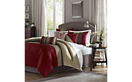 Hampton Hill Amherst Red 7-Piece Full/Queen Comforter Set