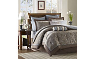 Hampton Hill Aubrey Blue 12-Piece King Bedding Set