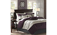 Hampton Hill Palmer Plum 7-Piece Full/Queen Comforter Set