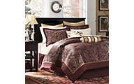 Hampton Hill Aubrey Red 12-Piece King Comforter Set