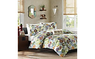 Hampton Hill Tamil Multi 4-Piece Full Quilt Set