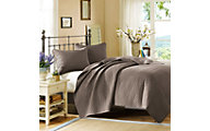 Hampton Hill Velvet Touch Taupe 3-Piece King Coverlet Set