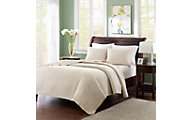 Hampton Hill Keaton Khaki Two-Piece Twin Coverlet Set