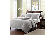 Hampton Hill Keaton Grey 3-Piece Full/Queen Coverlet Set