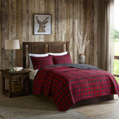 Hampton Hill Check 3-Piece King Quilt Set