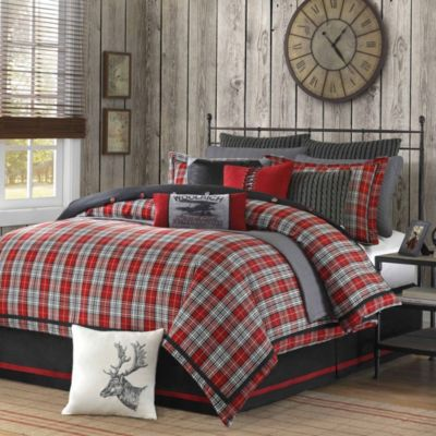 Hampton Hill Williamsport Plaid 4-Piece Queen Comforter Set