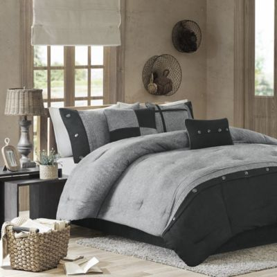 Hampton Hill Boone Gray 7-Piece Queen Comforter Set