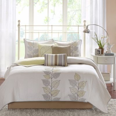 Hampton Hill Caelie Yellow 6-Piece Queen Coverlet Set