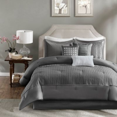 Hampton Hill Trinity Gray 7-Piece Queen Comforter Set