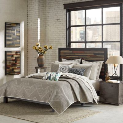 Hampton Hill Pomona Taupe 3-Piece King Coverlet Set