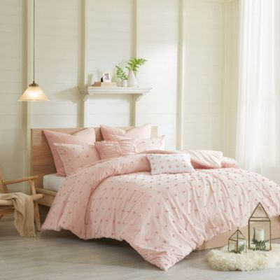Hampton Hill Brooklyn Pink 5-Piece Twin Duvet Set