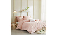 Hampton Hill Brooklyn Pink 7-Piece Full Duvet Set