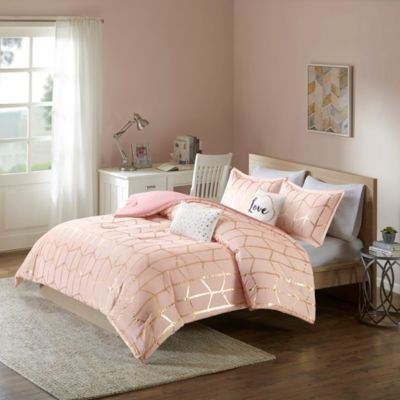 Hampton Hill Raina Blush 4-Piece Twin Comforter Set