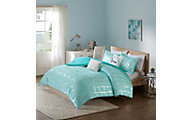 Hampton Hill Raina Aqua 4-Piece Full Comforter Set