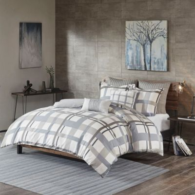 Hampton Hill Sterling Plaid 3-Piece Queen Comforter Set