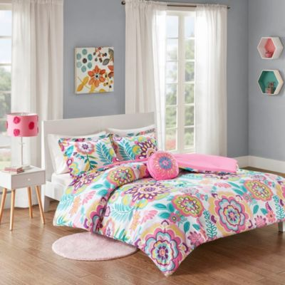 Hampton Hill Camille Floral 4-Piece Full Comforter Set