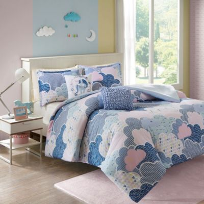 Hampton Hill Cloud 4-Piece Twin Duvet Cover Set