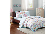 Hampton Hill Fluttering Farrah 6-Piece Twin Coverlet/Sheet Set