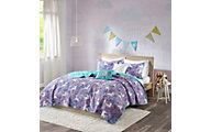 Hampton Hill Lola Purple 5-Piece Full Coverlet Set