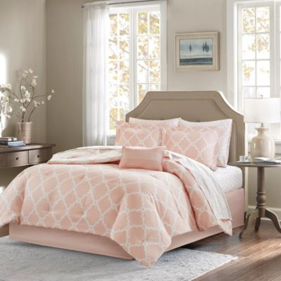 Hampton Hill Merritt Blush 9-Piece Full Comforter/Sheet Set