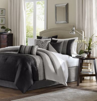 Hampton Hill Amherst Black 7-Piece Queen Comforter Set