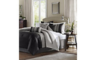 Hampton Hill Amherst Black 7-Piece King Comforter Set