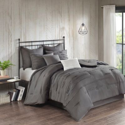 Hampton Hill Jenda Grey 8-Piece Queen Comforter Set
