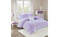 Hampton Hill Rosalie Purple 3-Piece Twin Comforter Set