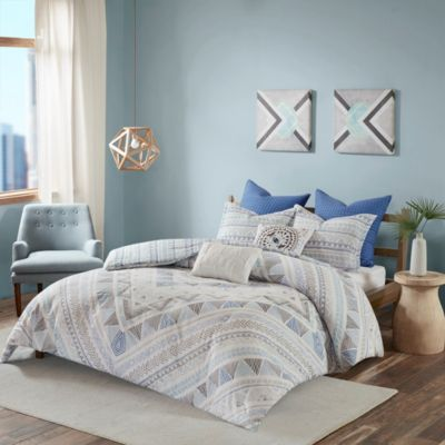 Hampton Hill Rochelle 7-Piece Queen Duvet Cover