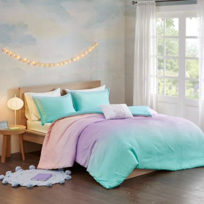 Hampton Hill Glimmer 4-Piece Full Duvet Cover