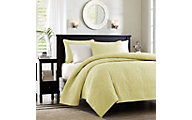 Hampton Hill Quebec Yellow 3-Piece Full/Queen Coverlet Set