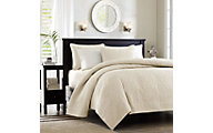 Hampton Hill Quebec Ivory 3-Piece Full/Queen Coverlet Set
