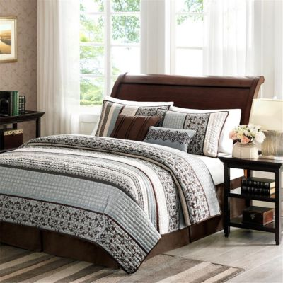 Hampton Hill Princeton Blue 5-piece Queen Coverlet Set