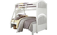 Hillsdale Furniture White Lakehouse Twin/Full Bunk Bed
