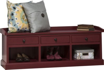 Hillsdale Furniture Tuscan Retreat Antique Red Bench