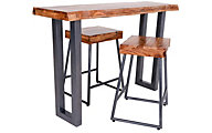 Hillsdale Furniture Emerson Counter Table & 2 Stools