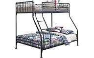 Hillsdale Furniture Brandi Gray Twin/Full Bunk Bed