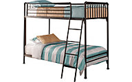 Hillsdale Furniture Brandi Oiled Bronze Twin/Twin Bunk Bed