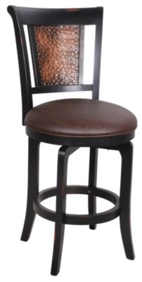 Hillsdale Furniture Cecily Swivel Copper Counter Stool