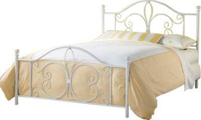 Hillsdale Furniture Ruby White King Metal Bed