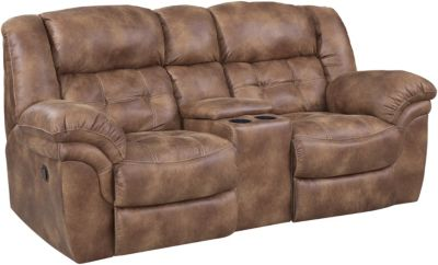 Homestretch Frontier Power Reclining Loveseat with Console